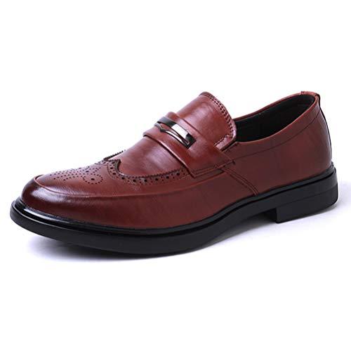 Qianliuk Brogue Schuhe Männer Formale Schuhe Mode Druck Echtes Leder Kleid Schuhe Britischen Stil Gentleman Slip-On Männer Oxfords Schuhe Mid Cut Uniform