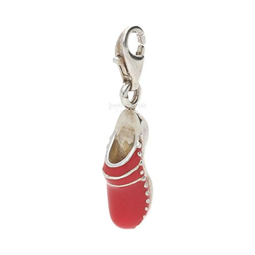 Thomas Sabo Clog Charm Anhänger Silber rot emailliert 0472-007-10