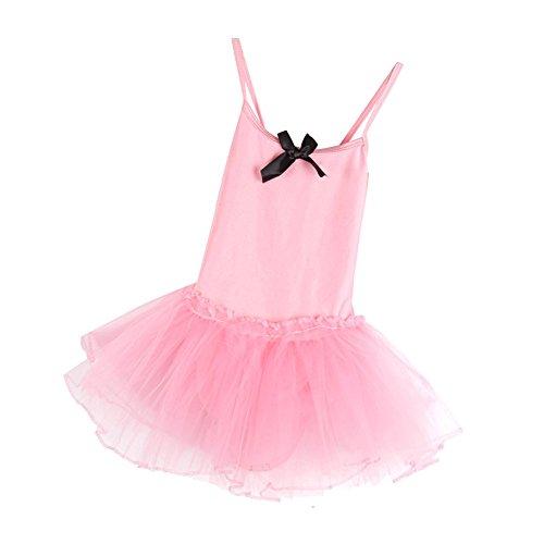 Brightup Mädchen Kind Ballett Tanz Kleid Trikotanzug Ballettröckchen Rock