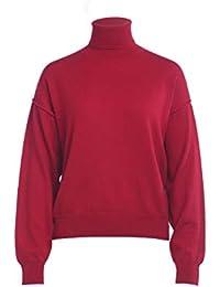 Amazon.it: maglione lana Rosso Donna: Abbigliamento