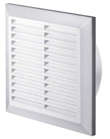 Awenta - Rejilla de ventilación (protección contra insectos, diámetro 150 mm, sistema anti-bloqueo, T27), color blanco