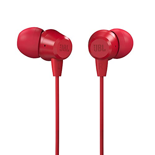 JBL C50HI in-Ear Headphones with Mic (Red)