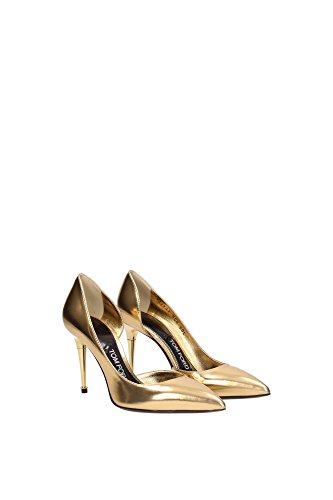 115W1292TMCAGOL Tom Ford Talon Femme Cuir Or Or