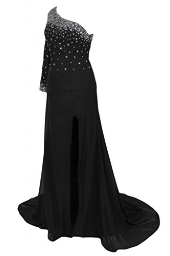 Sunvary Classy con visiera a tracolla, con scritta Mother of the Bride, Prom Pageant Gowns lungo Black