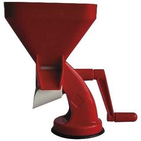 Trituradora de alimentos, pasador de tomate y vegetales – tomatera roja muy eficaz - passapomodoro grande – máquina para triturar de color rojo, de