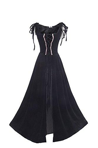 lter Kleid Lang Ärmellose Renaissance Kleider Cosplay Kostüm (Renaissance Mittelalter Kostüme)