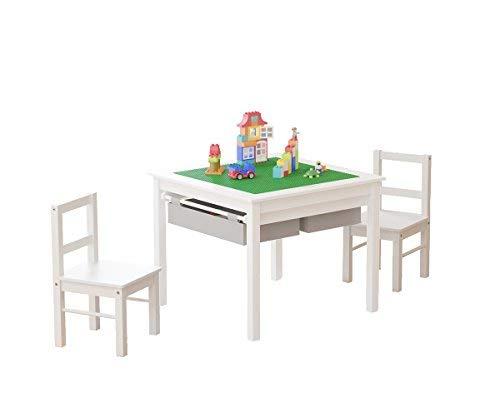 UTEX: Mesa de Actividades 2 en 1 para niños y Juego de 2 sillas con Almacenamiento