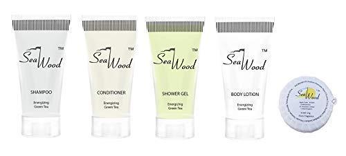 Hotel Toilettenartikel Starter Pack Seife, Shampoo, Conditioner, Duschgel, Bodylotion 20 ml x 125 Einheiten à 625 Stück von Seawood -