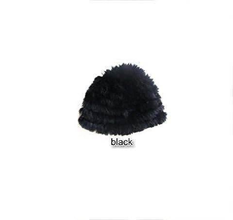 Hand Knitting Warm Autumn \u0026 Winter Beanie Hat En Plein Air évasé Slouch Stretch Cap,Black-29cm*21cm