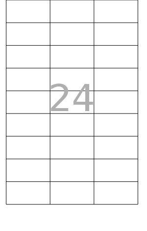 PeakPack 100x Bögen DIN A4 Etiketten selbstklebend weiß Größe 64,5 x 33,8 mm 24 pro Bogen -