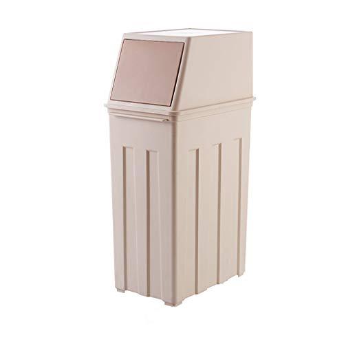 ZXW Mülleimer- Mülleimer Plastik 30L, Khaki, Braun (Farbe : Khaki, größe : 19x62.5cm) -