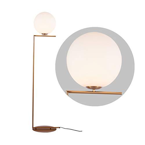 LED Stehleuchte-Modern Glass Shade Stehleuchte for Wohnzimmer oder Schlafzimmer-Leselicht for Studien Einfach Stehleuchte for Office (Color : Gold, Size : 33cm*158cm) -