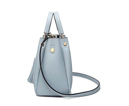 Dame Fashion Tassel Bag Einfache Handtasche Umhängetasche Messenger Bag Handtasche Kleine Tasche A