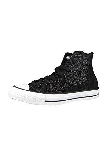 Converse - All Star Hi Lea Metallic, Sneaker alte Donna Black White