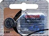 Maxell Watch Battery Button Cell SR1130SW 390 Pack of 5 Batteries by Maxell