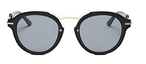 Skudy Sonnenbrille Runde Herren Sonnenbrillen Mädchen Mode Rahmen Brille Temperament Designer-Brille Schutz Metallrahmen
