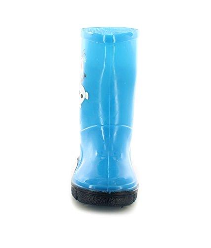 Kinder PVC Gummistiefel Mit Olaf Figur Aufgedruckt auf der Seite - Cyan Blau / Marineblau Cyan Blau / Marineblau