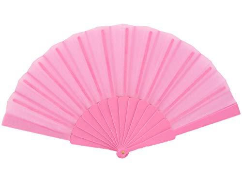 Alsino Handfächer Fächer Flamenco Tanzfächer Fae-05 - Farbe: Pink, Länge geschlossen: 23 cm, Spannweite: 43 cm