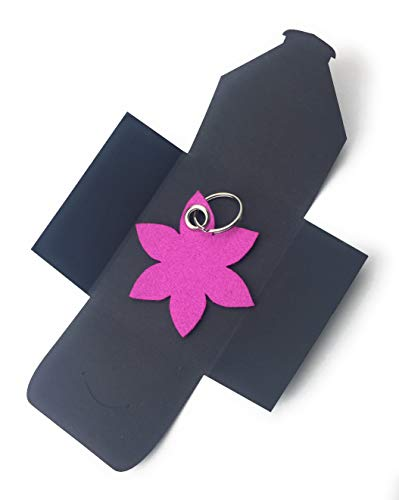 filzschneider Schlüsselanhänger aus Filz - Blume - Spitz/Blüte - in pink/Magenta - als besonderes...