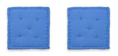 Homevibes Cojines para Silla, Juego de 2 Cojines para Silla de 60 x 60 x 12 cm para Interior y Exterior...