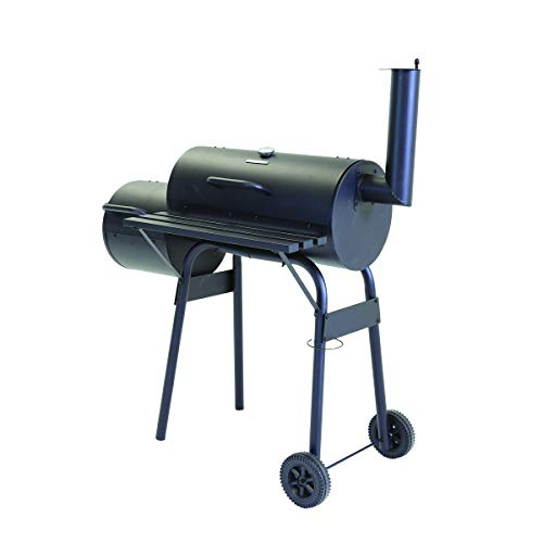 31b5VXDLlPL. SS500  - Charles Bentley Medium Charcoal BBQ with Offset Smoker Thermometer Gauge On The Lid Removable Ash Tray - 61 X 31cm