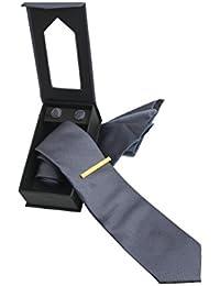 Shenky - Set de corbata, gemelos y pañuelo - Con caja regalo
