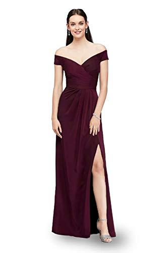 Laorchid Damen Lang Kleider Vintage 50's Abendkleid Ärmellos Schulterfrei Brautjungfern Cocktail Hochzeit Partei Burgundy S