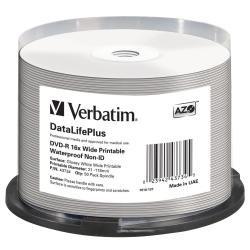 Verbatim 43734 DVD-R Rohlinge (4,7 GB DL, 16x wasserabweisende Oberfläche 50er Spindel)