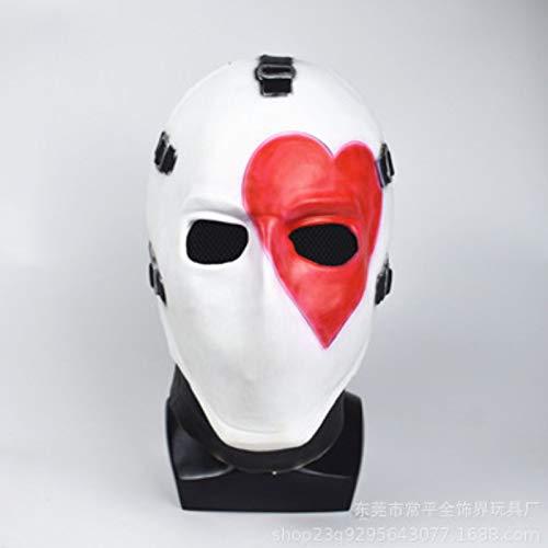 Sonwaohand Festung Nacht Poker Gesichtsmaske Kopf Setzen Spiel Cosplay Prop Fortnit Halloween-Ball Mittelcode 2 (Kinder Außerhalb Für Halloween-spiele)