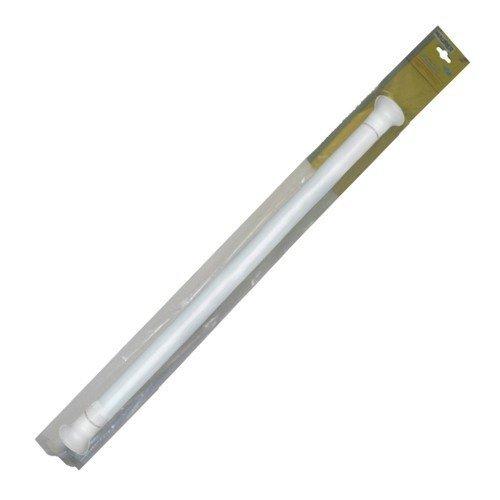 Maurer 4042205 - Barra para cortina de ducha, extensible, 125 x 220 cm, aluminio blanco