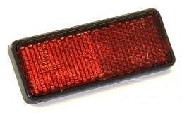 Rinder - Catadióptrico Reflectante Rojo Rectangular 75 x 29 mm. Adhesivo