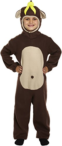 GIRLS BOYS MONKEY OUTFIT FANCY DRESS BOOK DAY COSTUME AGES 4-14 YEARS CHILDRENS (Medium (7-10 ()