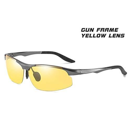 LKHJ Sonnenbrillen Sonnenbrillen Für Männer Tag Und Nacht Photochrome Polarisierte Sonnenbrillen Für Fahrer Männliche Sicherheit Driving Fishing Uv400 Gläser