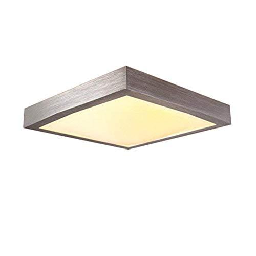 16W LED Blanco cálido Moderno Lámpara de techo Luz de techo Dormitorio Cocina Corredor Salón Lámpara Luz de pared Luz de ahorro de energía Plata