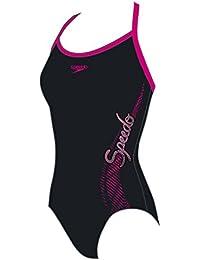Speedo Mädchen Badeanzug Logo Thinstrap Muscleback 8-09533