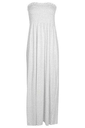 blanc Petite Rhiannon Robe Maxi Froncée En Jersey Blanc