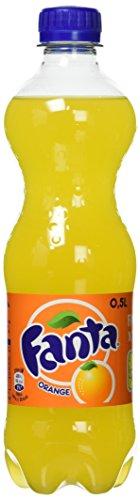 Fanta Orange / Super frische Limonade mit Orangengeschmack und Spaß-Garantie in praktischen Flaschen / 12 x 500 ml Einweg Flasche