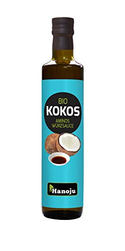 Hanoju Bio Kokos Aminos Würzsauce, Soja-freie Gewürz Sauce, Alternative zu Sojasaucen 250 ml