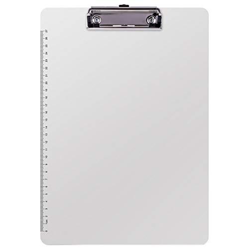 LQW HOME Mit Einer Skala Platte Clip Kunststoff Ordner A5 Papier Büroklammer Schreibwaren Schreibblock A4 Office Supplies Ordner Karton (Color : White, Größe : 31.5 * 22.5cm) (Kunststoff-platten Bulk)