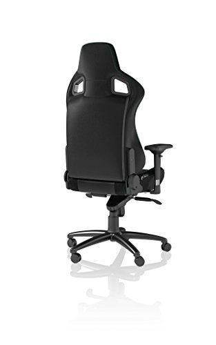 Best Price Noblechairs EPIC Gaming Chair – Black/Green with Vegan Friendly PU Leather, 2 Year Warranty, Up to 180KG Users, Perfect for an Executive Office Chair, Racing Seat Design on Amazon