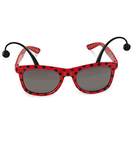 FASCHING 50355 Brille Marienkäfer Sonnenbrille Käfer rot NEU/OVP