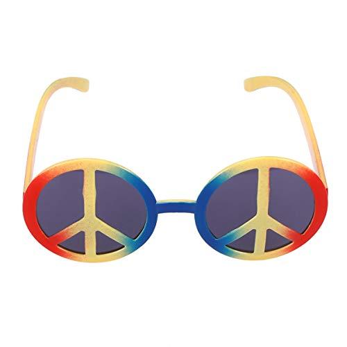 BESTOYARD 60er Jahre Hippie Kostüm Gläser Anti-Krieg Brillen lustige Tanzparty Makeup Gläser für Maskerade Party Dekorationen (Multicolor)