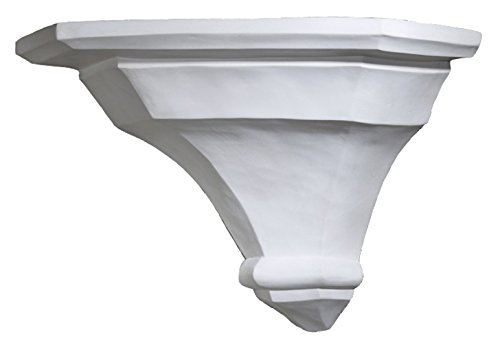 Gipsmanufaktur Eck-Wandkonsole Schlicht weißer Alabastergips