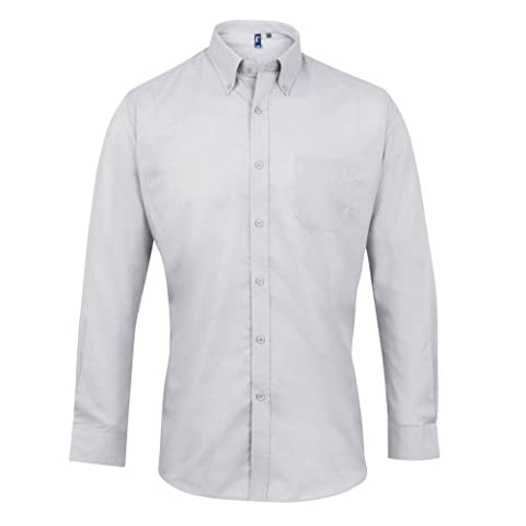 Premier Mens Signature Oxford Long Sleeve Work Shirt (17)