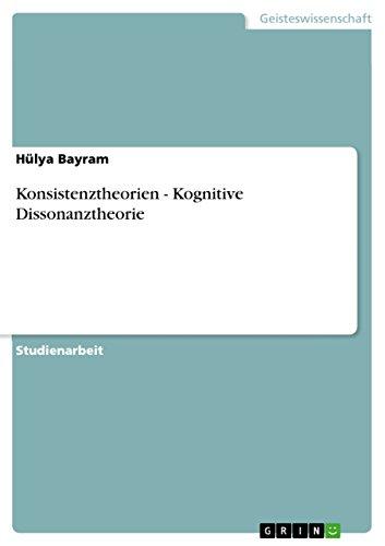 Konsistenztheorien - Kognitive Dissonanztheorie