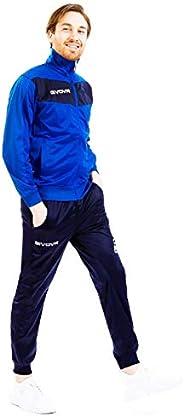 menitashop Tuta GIVOVA Uomo Donna Visa Fitness Calcio Blu Nero Bianco Giallo Rosso