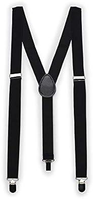 Bows-N-Ties Men's Suspenders - Elastic Band 1 inch width adjustable length Y style suspen