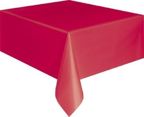 Plastik Tischdecken Tischdecke Tücher Partys Geburtstage Rechteckig Länglich Rot