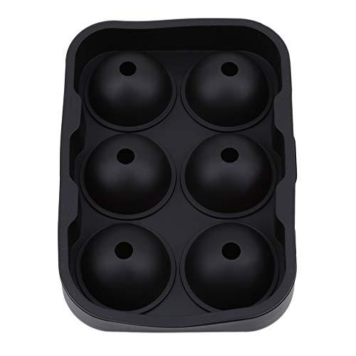 Sevenfly Sphere Round Ice Ball Maker Silikon Eiswürfelbehälter Eiswürfelform Aufbewahrungsbehälter, Schwarz (Jelly Dekor Ball)