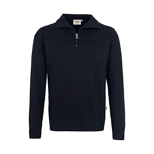 HAKRO Zip-Sweatshirt, schwarz, Größen: XS - XXXL Version: L - Größe L -